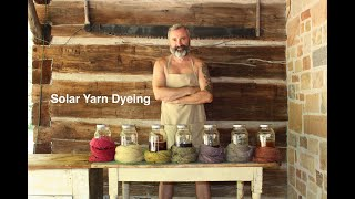 Solar yarn dyeing