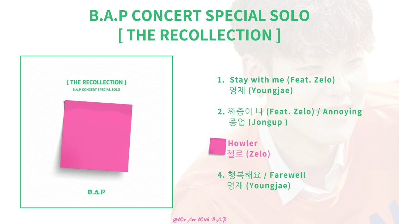 B.A.P CONCERT SPECIAL SOLO [THE RECOLLECTION[