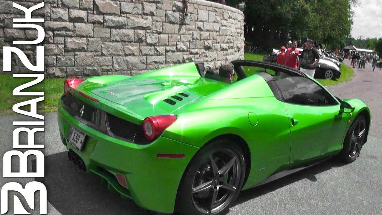 green ferrari 458 spider youtube - Ferrari 458 Spider Green