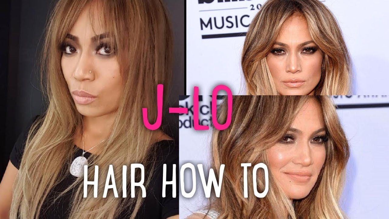 How To Do Jlo S Hair Youtube