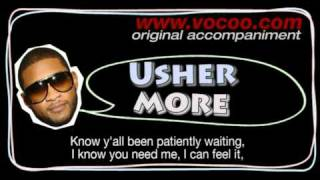 Usher - More  (Karaoke/original accompaniment / Instrumental / lyrics)
