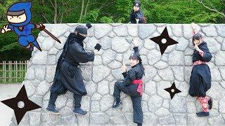 ★忍者アスレチック&忍術発表!★しのびの里後編★Oshino Ninja village 2★ thumbnail