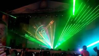 Лазерное шоу на площади Куйбышева в Самаре в День России 2016