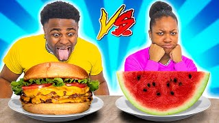 HEALTHY VS JUNK FOOD CHALLENGE!