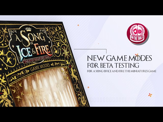 Here We Stand: NEW A Song of Ice and Fire the Miniatures Game Scenario