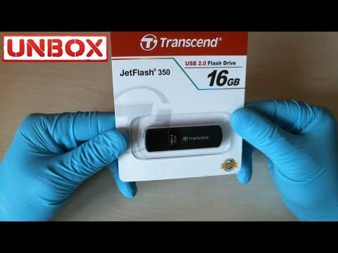 Transcend JetFlash 350 16GB распаковка тестирование