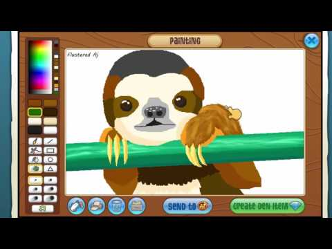 how to get to the art studio on animal jam