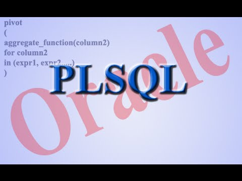 Using Pivot clause in Oracle  PLSQL.