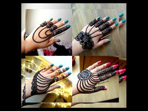 Beautiful Latest,trendy Easy Simple Jewellery Style Henna Mehndi Designs For Hands Tutorial Eid 2018