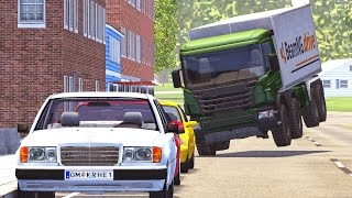 BeamNG Drive Realistic High Speed Crashes #4
