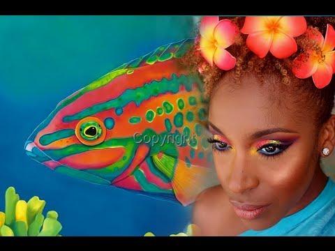 Neon Eyes - Inspired By Hanauma Bay Christmas Wrasse Fish