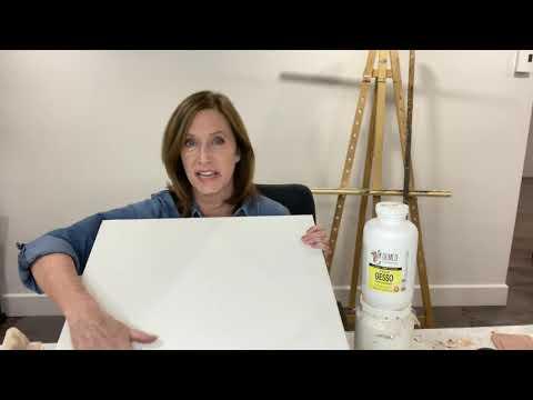 Comment préparer une toile avec du Gesso