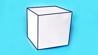 Как сделать объемный КУБ из бумаги А4? ||| Геометрические фигуры своими руками