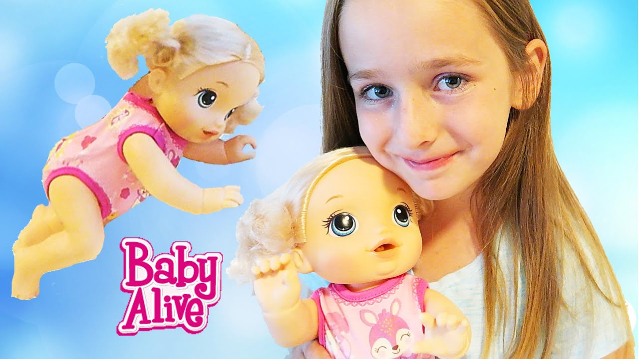 Baby Alive Baby Go Bye Bye Doll That Crawls Pees In Diaper