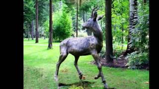 Забавные скульптуры из дерева для сада и дачи