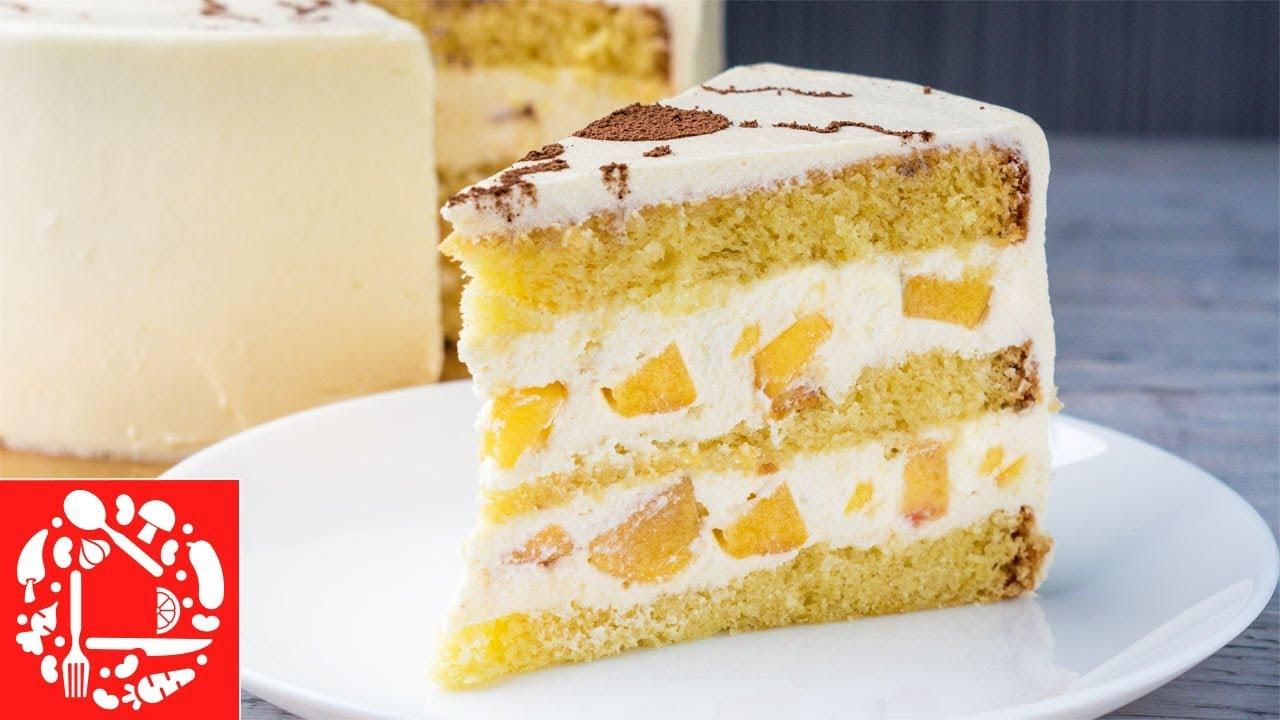 Обалденный Торт с Персиками - вкусный рецепт