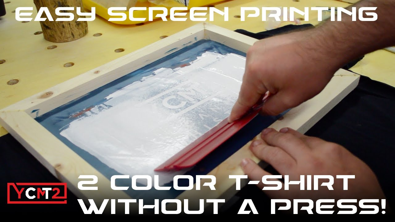 1d4978037 DIY T-Shirt Screen Printing in 2 Colors with Speedball | How To ...