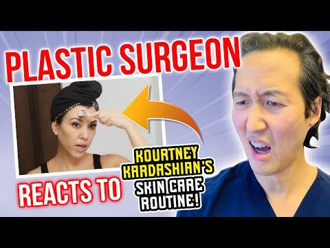 Plastic Surgeon Reacts To Kourtney Kardashian's Skin Care Routine!