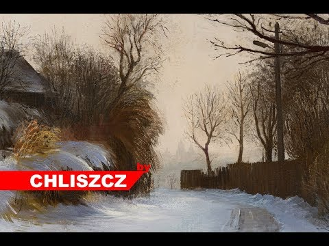 Photoshop digital painting – Winter Landscape