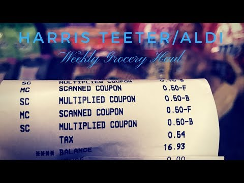 SUPER SAVINGS || Harris Teeter-Aldi Grocery Haul 9-27-17