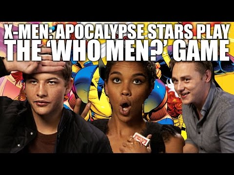 XMen: Apocalypse's Tye Sheridan, Alexandra Shipp and Ben Hardy play the 'Who Men' game