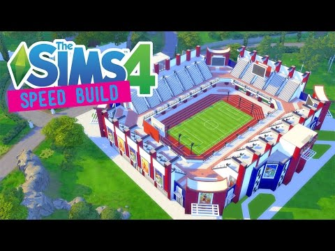 The Sims 4 -Speed Build- Olympic Stadium! (2016 Olympics) - No CC -