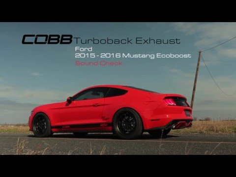 cobb tuning ford mustang ecoboost turboback exhaust v1. Black Bedroom Furniture Sets. Home Design Ideas