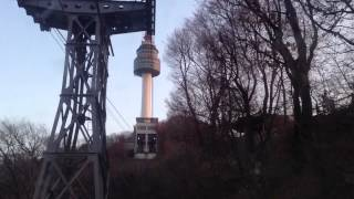 Going to N Seoul Tower by Namsan Cable Car