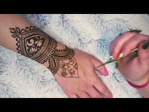 Henna for the Hand | Full Tutorial 2018 ~ Reverse Fill Lotus Design ~