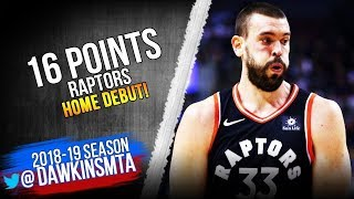 Marc Gasol Raptors Home DEBUT 2019 02 11 vs Nets   16 Pts 10 in 4th!  FreeDawkins