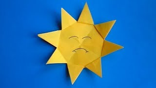 оригами солнце, как сделать оригами солнце // origami sun