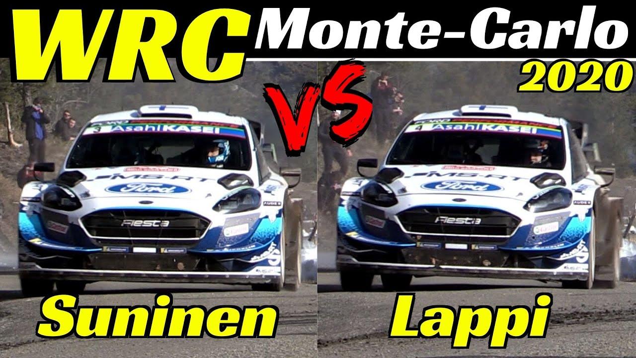 WRC Rallye Monte-Carlo 2020 - Teemu Suninen vs Esapekka Lappi - Comparison, Flatout & Max Attack
