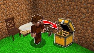 FAKİRİN EVİNDE SANDIKTA GİZLİ GEÇİT BULDUM! 😱 - Minecraft