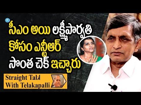 Dr.Jayapraksh Narayana about Lakshmi Parvathi and NTR || Straight Talk with Telakapalli