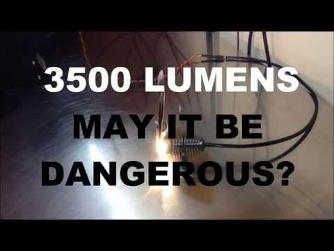 A 3500 Lumen Flashlight. Making it safe and friendly.