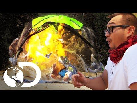 ¡Gas explosivo!   Mythbusters: Los cazadores de mitos   Discovery Latinoamérica