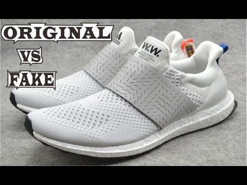 006c64917 Wood Wood X Adidas Ultra Boost White Original   Fake - YouTube