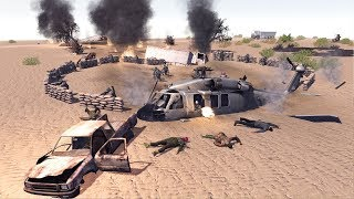 US ARMY CHOPPER CRASH SITE DEFENSE | Call to Arms Gameplay