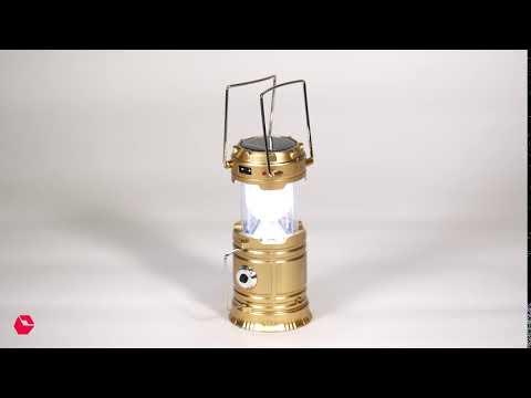 Solar Rechargeable Lantern: Aiwa 12W Light