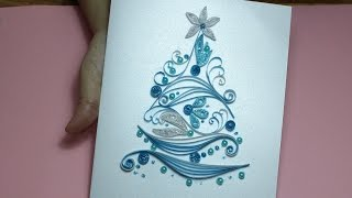[Paper Quilling Card] Paper Quilling Christmas Card tutorial #2
