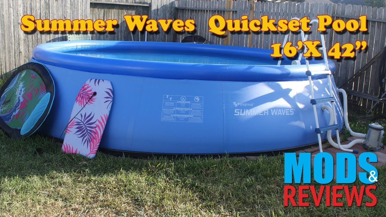 16' Summer Waves Quickset Pool Setup Mod & Review