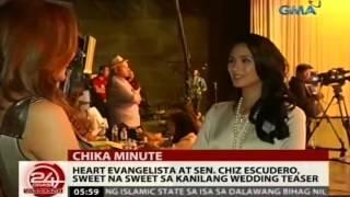 24 Oras: Heart Evangelista at Sen. Chiz Escudero, sweet na sweet sa kanilang pre-nup video