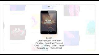 Duur - Music Band Musicians & DJ's HTML Template   Themeforest Download