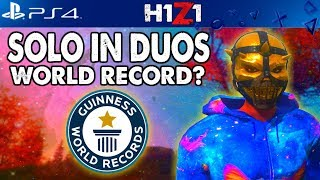 🥇H1Z1 PS4 Solo in Duos World Record!? H1Z1 Playstation 4 Gameplay