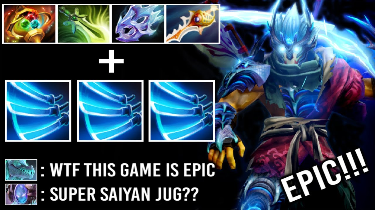CRAZY FAST Max Attack Speed 4x Divine Rapier Pro Juggernaut Level 30 Epic Late Game Fight WTF Dota 2