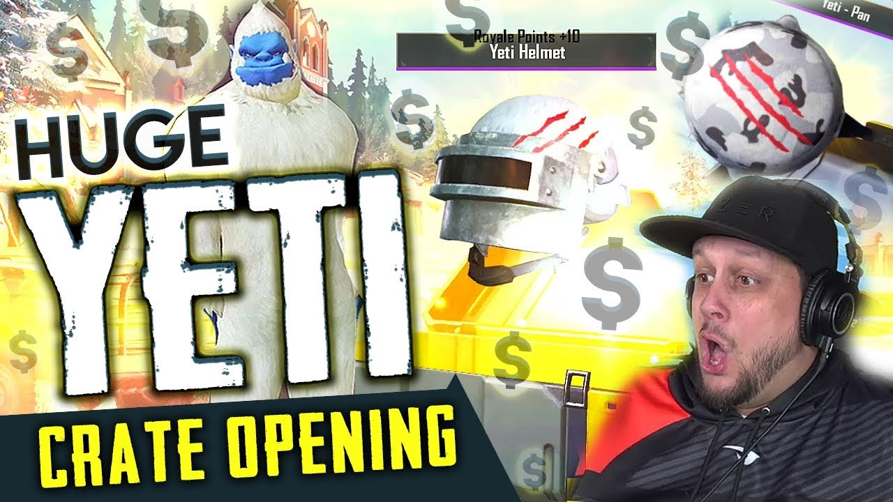 Huge Yeti Crate Opening 33 000 Uc Big Win Pubg Mobile Youtube