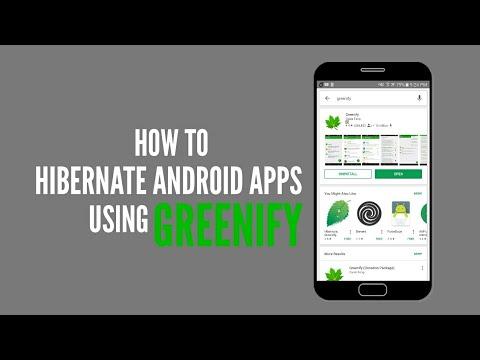 Hibernate Android Apps Using GREENIFY