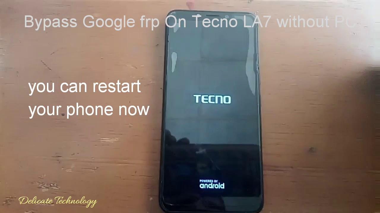 Tecno LA7 (pouvoir 2) Google frp bypass without PC