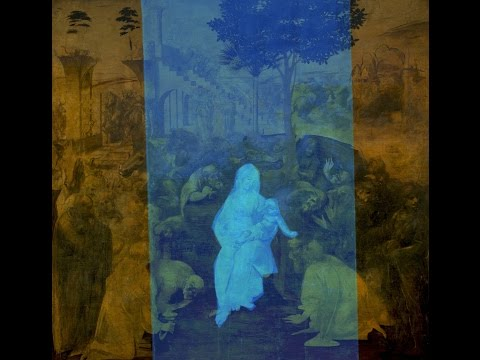 1975B Holography in Renaissance by Leonardo ルネッサンスのホログラフィ絵画byレオナルド・絵の中のオーパーツbyはやし浩司