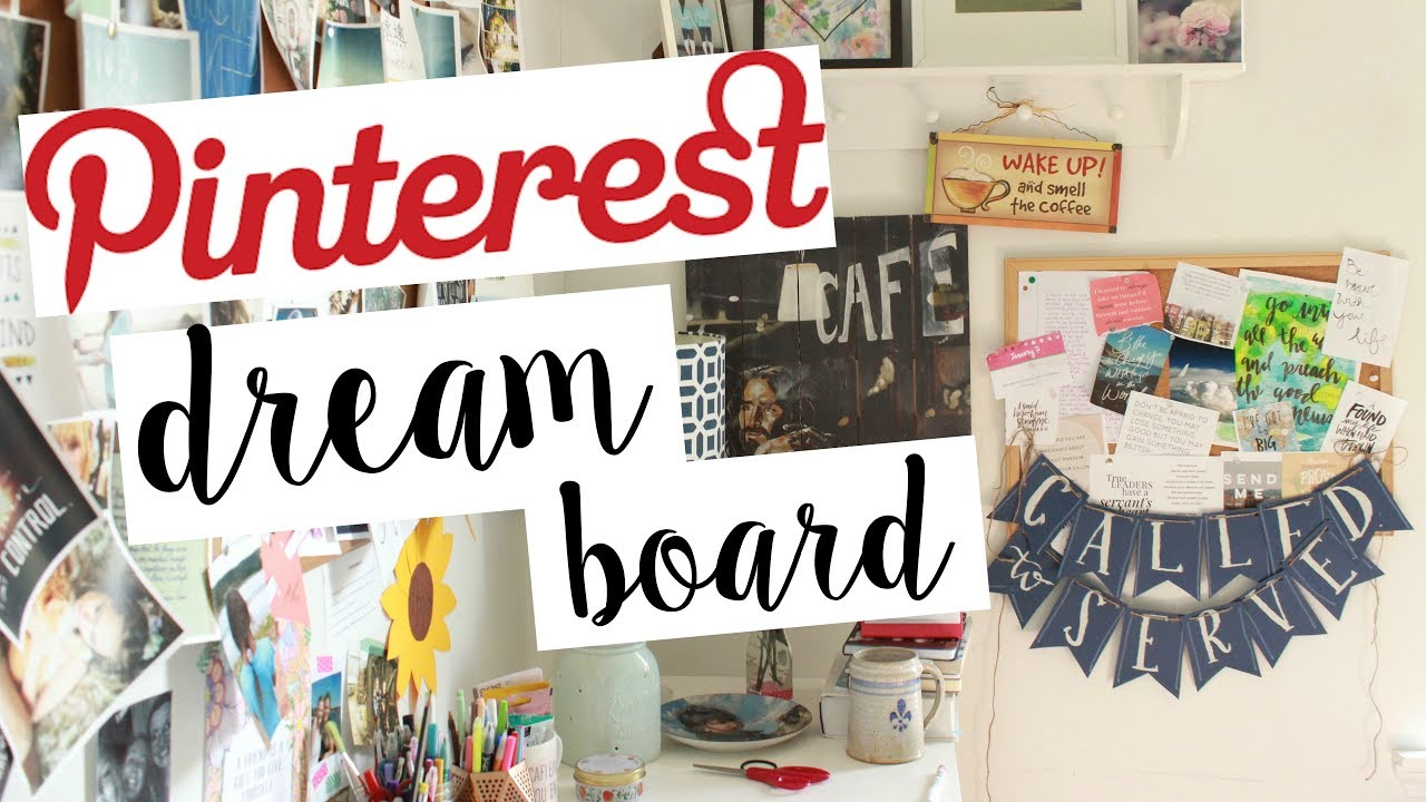 Home Design Vision Board Part - 27: DIY Pinterest Dream Board // How To Make A Vision Board!
